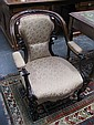Victorian Rococo Revival Carved Rosewood Armchair with a BADA sticker