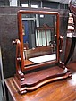 Victorian Mahogany Toilet Mirror on Shaped Supports