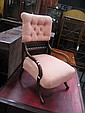 Late Victorian Cedar Bedroom Chair with Apricot Upholstery
