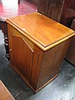 Late 19th Century Cedar Wash Stand with Hinged Top & Panel Door