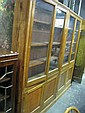 Pair Of Oak Glass Front Bookcases
