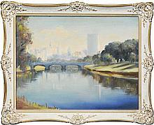Dudley Drew (1924 - ) - Yarra River, Melbourne 45 x 57cm