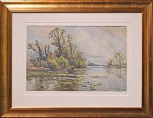 Arthur William Redgate (1860 - 1906) - River Scene 37.5 x 55cm