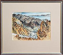 Frank Norton (1916 - 1983) - Dolphin Island, Pilbara, W.A. 26 x 36cm