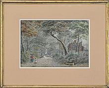 John Steeple (1823 - 1887) (2 works) - English Landscape Scenes 30 x 43cm & 26 x 37cm