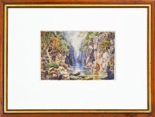 Artist Unknown (XX) - The Fairy Glen, Betws-y-Coed, Wales 18 x 28cm