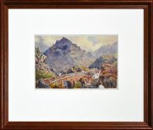 Artist Unknown (XX) - Tryfan, Ogwen Valley, Snowdonia, Wales 18 x 28cm