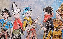 David Bromley (1960 -) - Playtime 182 x 300cm
