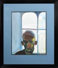 Euan MacLeod (1956 - ) - The Watcher (Geoff), 1996 74 x 60cm