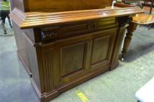 Antique Cedar Magistrates Counter, with reeded pilsters and panelled body