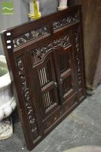 Carved Timber Framed Window Mirror
