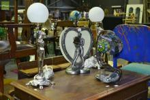 4 Figural Lamps