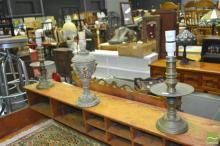 Two Brass Table Lamps And A Classical Example