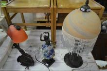 Pair of Shell Lamps w 2 Others