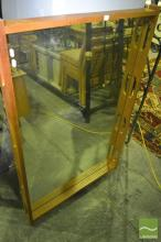 Timber Frame Over Mantle Mirror
