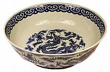 Chinese Blue & White 18th Century Bowl