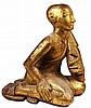 Burmese Giltwood Lohan Monk Figure