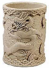 Chinese Earthenware Brushpot