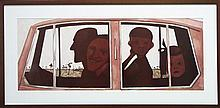 John Brack (1920 - 1999) - The Car 36 x 93cm