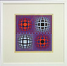 Victor Vasarely (1906 - 1997) - Abstract Composition 48 x 48cm