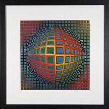 Victor Vasarely (1906 - 1997) - Vega-nor 56 x 56cm