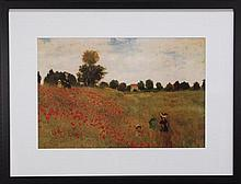 Claude Monet (1840 - 1926) - Field of Poppies 60 x 90cm