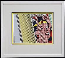 Roy Lichtenstein (1923 - 1997) - Reflections on the Minerva 1990 50 x 64cm