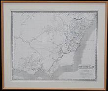 A. K. Johnston F.R.G.S. - Map of the Colony of News South Wales and Australia Felix. 52 x 62cm