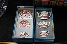 2 Boxed Coalport Willow Pattern Miniatures