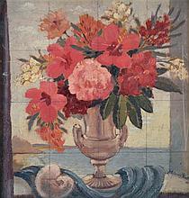Adrian Feint (1894 -1971) - Study - Mixed Flowers in Urn 1948 oil on board