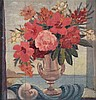 Adrian Feint (1894 -1971) - Study - Mixed Flowers in Urn 1948 oil on board