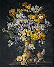 Robert Cox (working 1970s - 1980s) - The Berlin Vase 1972 oil on board