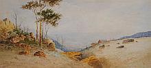 Jan de Leener (working 1890s - 1920s) - Sketch watercolour