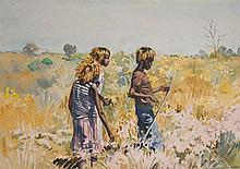 Helen Baldwin (working 1940s - 1980s) - Mulla Mulla, Umpangara, Northern Territory watercolour