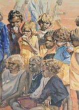 Helen Baldwin (working 1940s - 1980s) - Untitled (Morning Tea, Papunya) watercolour