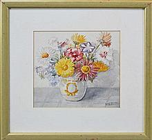 Berryl Grinter (XX) - Flowers 26 x 27cm