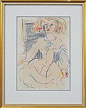 Rodney Pople (1952 -) - Doll 29 x 20cm