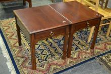 Pair of Drexel Single Drawer Side Tables