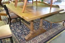 Elm Baluster Legs Dining Table (200cm)