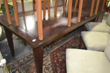 Mahogany Dining Table On Tapering Legs