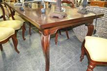 French Parquetry Top Dining Table