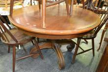 Circular Dining Table on Quadraform Base