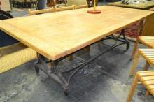 Dining Table On Industrial Legs (240cm)