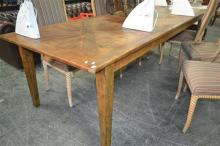 French Parquetry Top Dining Table (270cm)