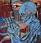 Paicey Melbourne 2006 - Death Music enamel on canvas