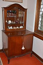 Timber Two Door Buffet with Display Hutch in the Continental Style -