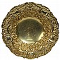 English Hallmarked Sterling Silver Gilt Lined Dish