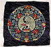 Chinese Embroidered Roundel of a Crane