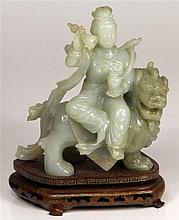 Chinese Jade Carved Figure Group