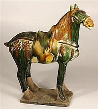 Chinese Sancai Glazed Caparisoned Horse